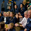 Trinity and Yale watching the #1 match