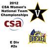 a25 2012 Women's College Squash Association National Team Championships - E Division: Lucy Rice (Vanderbilt) and Davila Thompson (Drexel)