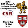 a28 2012 Women's College Squash Association National Team Championships - Howe Cup (A Division): Nirasha Guruge (Harvard) and Ashley Tidman (Trinity)