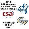 a10 2012 Women's College Squash Association National Team Championships - Walker Cup (C Division): Adriana Calderon (George Washington) and Ashley Crutchfield (Conn)