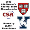 a44 2012 Women's College Squash Association National Team Championships - Howe Cup (A Division): Yale and Harvard introductions