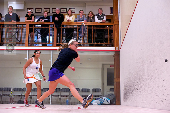 2012 College Squash Individual Championships: Courtney Bogle (Williams) and Alisha Maity (Columbia)