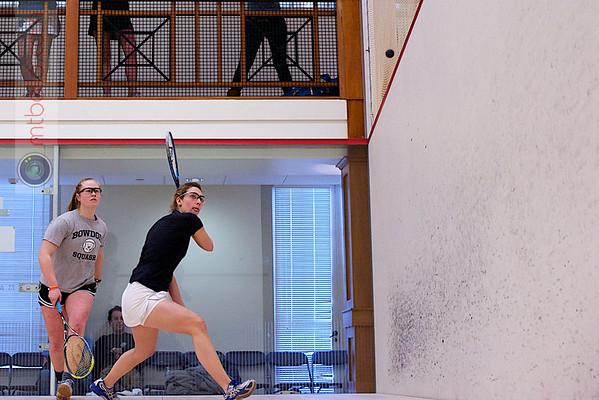 2012 College Squash Individual Championships: Torey Lee (Bowdoin) and Alyssa Northrop (Williams)