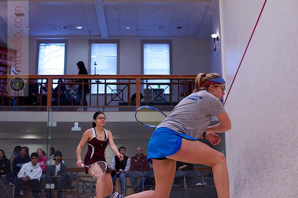 2012 College Squash Individual Championships: Samantha Matos (Bates) and Kathryn Brummer (Mount Holyoke)