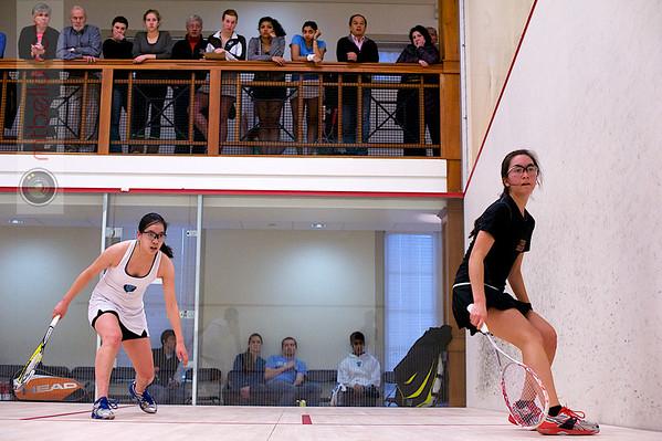 2012 College Squash Individual Championships: Casey Cortes (Princeton) and Katie Quan (Columbia)