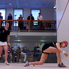 2012 College Squash Individual Championships: Amanda Sobhy (Harvard) and Elizabeth Eyre (Princeton)