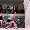 2012 College Squash Individual Championships: Millie Tomlinson (Yale) and Laura Gemmell (Harvard)