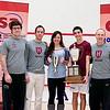 2012 College Squash Individual Championships: Luke Hammond, Reg Schonborn, Amanda Sobhy (Harvard), Ali Farag (Harvard), and Mike Way