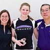 2012 College Squash Individual Championships: Ellie Ballard, Kate Savage (Amherst), and Peter Robson