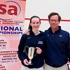 2012 College Squash Individual Championships: Millie Tomlinson (Yale) and Dave Talbott