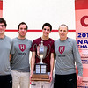 2012 College Squash Individual Championships: Luke Hammond, Reg Schonborn, Ali Farag (Harvard), and Mike Way