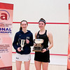 2012 College Squash Individual Championships: Millie Tomlinson (Yale) and Amanda Sobhy (Harvard)