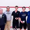 2012 College Squash Individual Championships: John Moncure, Tomas Fortson, Barrett Takesian (Bowdoin), Caleb Garza (Conn College),  and Barry Ward