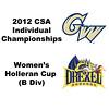 Holleran Cup (1st Consolation, Round 2): Kelly Barnes (George Washington) and Kiran Vasudevan (Drexel)