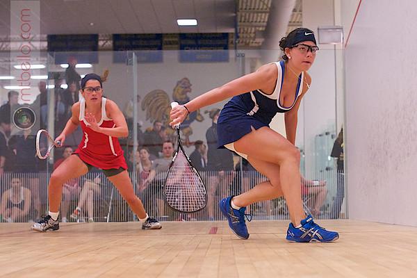 2012 Cornell at Trinity: Andrea Echeverria (Trinity) and Clare Berner (Cornell)
