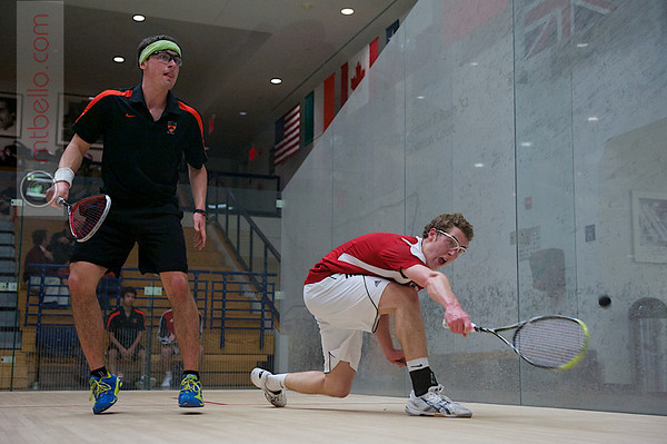 2012 Ivy League Scrimmages: Tyler Osborne (Princeton) and Oliver Booth (Brown)