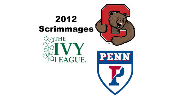 2012 Ivy League Scrimmages - W3s: Rachael Goh (Penn) and Abbey Foster (Cornell)