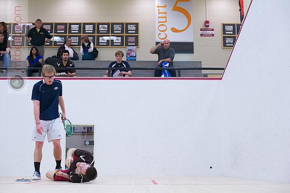 2012 Men's College Squash Association National Team Championships: Jay Dolan (Middlebury) and Kyle Ogilvy (St. Lawrence)