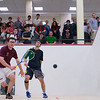2012 Men's College Squash Association National Team Championships: Juan Pablo Gaviria (Rochester) and Tom Mullaney (Harvard)
