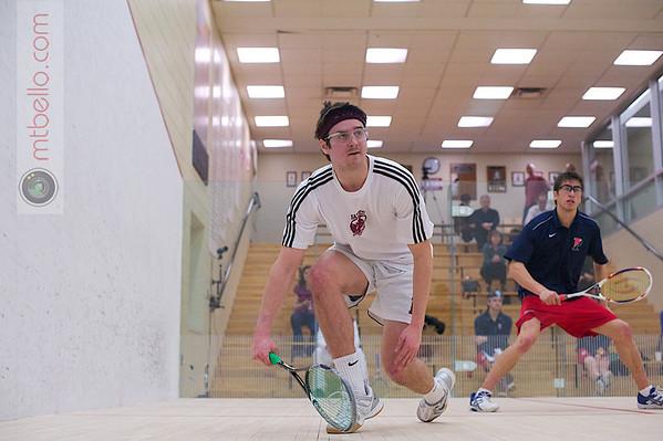2012 Men's College Squash Association National Team Championships: Daniel Judd,Penn, Eric Bedell,Bates