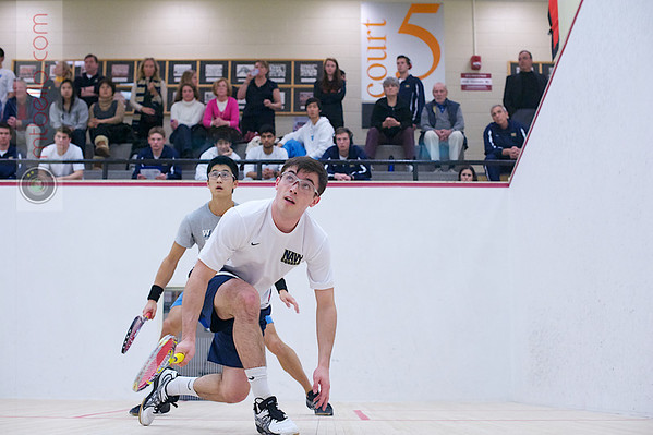 2012 Men's College Squash Association National Team Championships: James Kacergis (Navy) and Graham Miao (Columbia)
