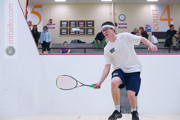 2012 Men's College Squash Association National Team Championships: David Koenig (Navy) Thomas Galluccio (Columbia)