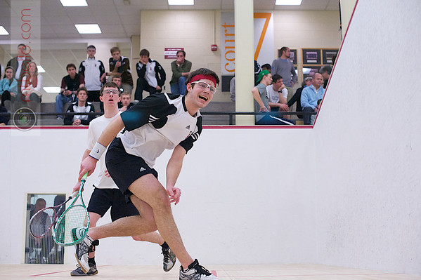 2012 Men's College Squash Association National Team Championships: Charles Lebovitz (Brown) and Nicholas Greaves-Tunnell (Williams)