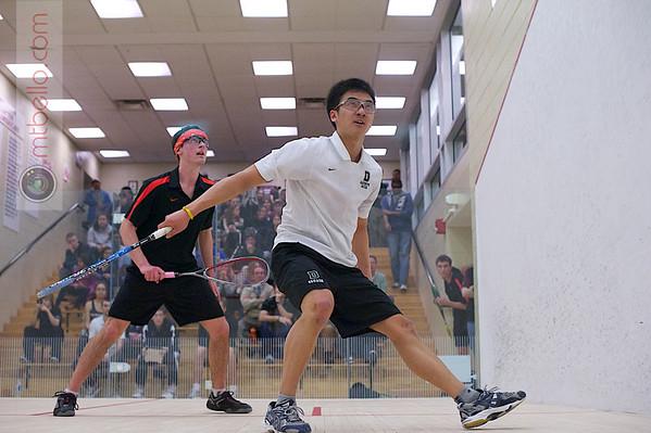 2012 Men's College Squash Association National Team Championships: Luke Lee (Dartmouth) and Tyler Osborne (Princeton)