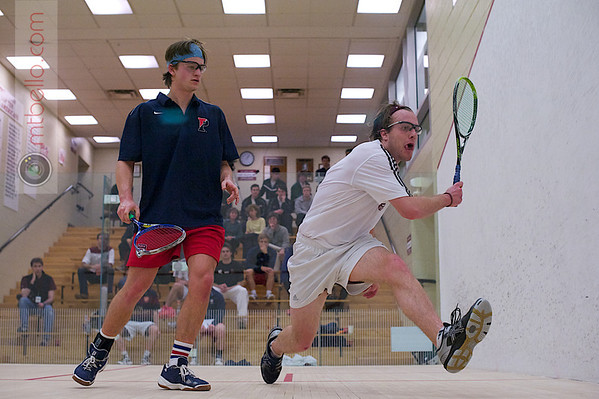 2012 Men's College Squash Association National Team Championships: Thomas Mattsson (Penn) and Robert Burns (Bates)