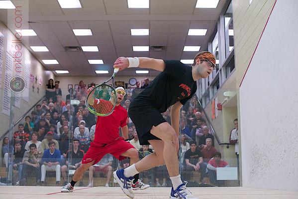 2012 Men's College Squash Association National Team Championships: Alex Domenick (Cornell) and Chris Callis (Princeton)
