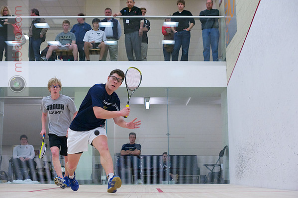 2012 Men's College Squash Association National Team Championships: Colin Barry (Navy) and Eamon O'Connor (Brown)