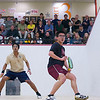 2012 Men's College Squash Association National Team Championships: Vishrab Kotian (Trinity) and Nigel Koh (Harvard)