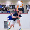 2012 Men's College Squash Association National Team Championships: Pete Gabranski (Colby) and Larkin Brinkworth (George Washington)