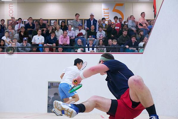 2012 Men's College Squash Association National Team Championships: Danny Greenberg (Penn) and Tony Zou (Columbia)