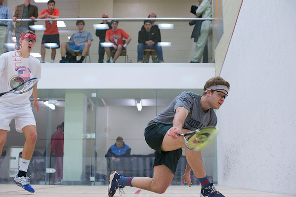 2012 Men's College Squash Association National Team Championships: Corey Kabot (Hobart) and Zach Schweitzer (Tufts)