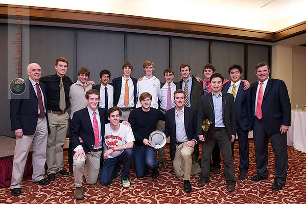 2012 Men's College Squash Association National Team Championships: 2012 Sloane Award (Team Sportsmanship) winners Princeton and Hall of Famer Peter Yik