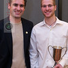 2012 Men's College Squash Association National Team Championships: 2012 Skillman Award winner Beni Fischer and coach Martin Heath