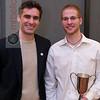 2012 Men's College Squash Association National Team Championships: 2012 Skillman Award winner Beni Fischer and coach Martin Heath