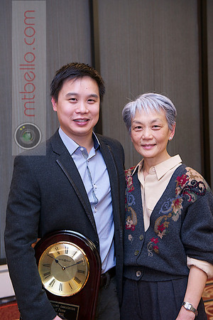 2012 Men's College Squash Association National Team Championships: Hall of Fame inductee Peter Yik and his mother