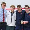 2012 Men's College Squash Association National Team Championships: Tim Riskie, Corey Kabot, Daniel Pelaez, and Kevin Kent