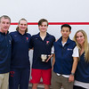 2012 Men's College Squash Association National Team Championships: Penn's coaches and captains - Jack Wyant, Trevor McGuinness, Thomas Mattsson, Randy Lim, and Amy Gross