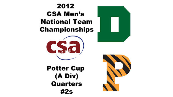 2012 Men's College Squash Association National Team Championships - Potter Cup (A Division): Nicholas Sisodia (Dartmouth) and Christopher Callis (Princeton) - #2s