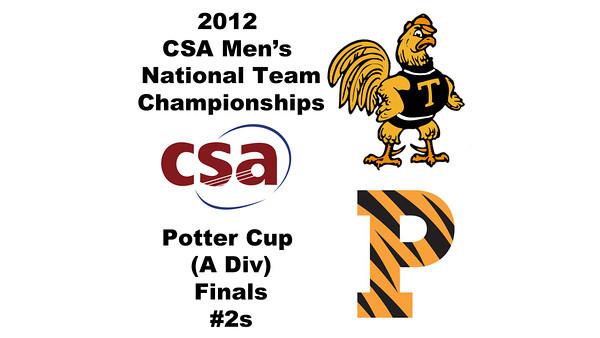 2012 Men's College Squash Association National Team Championships - Potter Cup (A Division): Antonio Diaz Gonzalez Salas (Trinity) and Christopher Callis (Princeton)<br /> <br /> Game 5