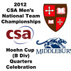 2012 Men's College Squash Association National Team Championships - Hoehn Cup (B Division): St. Lawrence celebration