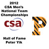 2012 Men's College Squash Association National Team Championships: Hall of Fame Induction of Peter Yik.