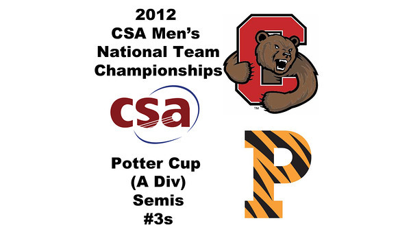 2012 Men's College Squash Association National Team Championships - Potter Cup (A Division): Thomas Spettigue (Cornell) and Tyler Osborne (Princeton)