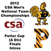 2012 Men's College Squash Association National Team Championships - Potter Cup (A Division): Trinity and Princeton Intros