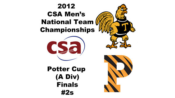 2012 Men's College Squash Association National Team Championships - Potter Cup (A Division): Antonio Diaz Gonzalez Salas (Trinity) and Christopher Callis (Princeton)  Game 2