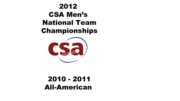2012 Men's College Squash Association National Team Championships: 2010 - 2011 All-American Presentations