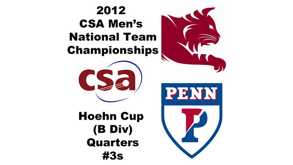 2012 Men's College Squash Association National Team Championships - Hoehn Cup (B Division): Daniel Judd(Penn) and Eric Bedell (Bates) - #3s